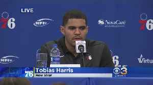 Philadelphia 76ers Introduce Tobias Harris [Video]