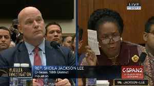 Rep. Sheila Jackson Lee Blasts Acting Attorney General Matt Whitaker: 'Your Humor Is Not Acceptable' [Video]