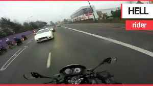 Reckless biker who filmed himself dodging in and out of traffic is jailed [Video]