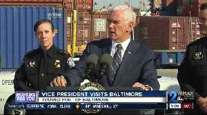 Vice President Pence delivers tours Port of Baltimore [Video]