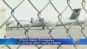 Plane From Newark Loses Engine During Flight [Video]