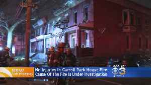 Crews Battle Flames At Home In Carroll Park [Video]