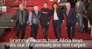 News video: Alicia Keys rolls out red carpet for Grammy Awards 2019