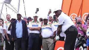 Ramaphosa tees off at golf challenge ahead of South African general election [Video]