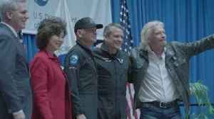Two Virgin Galactic pilots receive commercial astronaut wings [Video]