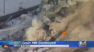 Firefighters Battle Large Blaze At Vacant Grain Mill In Brighton [Video]