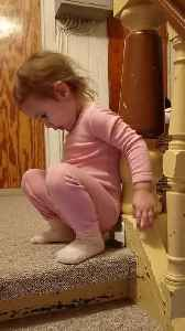 Toddler Pretends to Poop on Tiny Toilet [Video]