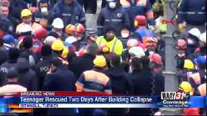 Teenager Rescued Two Days After Building Collapsed [Video]