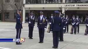 Air Force Honor Guard Drill Team performs at Keesler [Video]