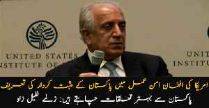 Zalmay Khalilzad lauds Pakistan's crucial role in inter-Afghan dialogue [Video]