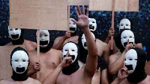 Philippine fraternity stages naked protest supporting freedom of expression [Video]