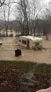 Camper Gets Swept Away By Floodwaters [Video]