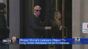 News video: Roger Stone's Lawyers Argue Against Potential Gag Order