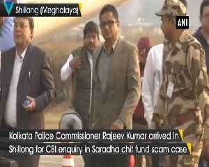 Kolkata Police Commissioner Rajeev Kumar arrives in Shillong for CBI enquiry [Video]