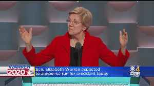 Elizabeth Warren Expected To Announce Run For President Saturday [Video]