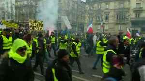 News video: Protests in France rage on for a 13th consecutive weekend