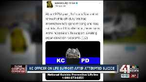 KCPD officer's family to donate organs after self-inflicted gunshot wound [Video]