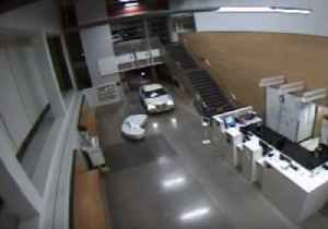 Vehicle Crashes Into Police Station Lobby With Infant in Backseat [Video]