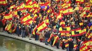 Thousands protest against Spanish PM's proposed Catalonia talks [Video]