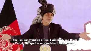 Afghan president offers Taliban local office [Video]