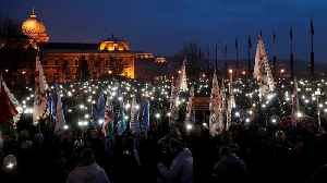 Hungarians protest 'slave law' in Budapest [Video]