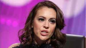Alyssa Milano Responds to Les Moonves' Attempted Comeback [Video]