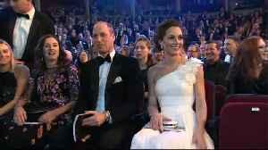 The Duke & Duchess Of Cambridge Arrive At The BAFTAs [Video]