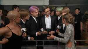 BTS Teases Their New Album On The GRAMMY Awards Red Carpet [Video]