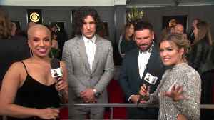 Dan + Shay Celebrate Their GRAMMY Awards Win On The Red Carpet [Video]