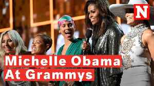 Watch: Michelle Obama Surprises Crowd At 2019 Grammys [Video]