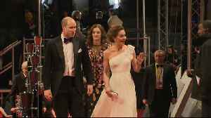 William and Kate walk the red carpet at the 2019 Bafta film awards [Video]