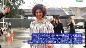 Joy Villa's Pro-Trump Fashion Makes Appearance at 2019 Grammy Awards [Video]