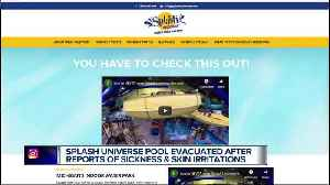 Splash Universe in Dundee evacuated after guests complain of skin irritation [Video]