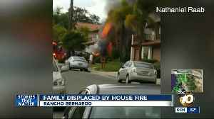 Rancho Bernardo family displaced after house fire [Video]