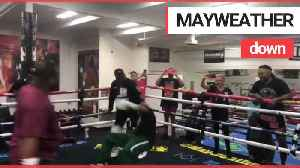 This is the moment Floyd Mayweather Sr. sparred in his eponymous boxing club - and got floored [Video]