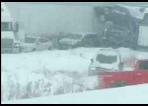 Multi-Vehicle Pile-Up Sparks Closure of I-94 in Wisconsin [Video]