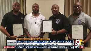 Military fraternity focuses community service [Video]