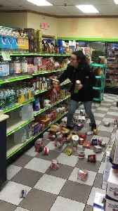 News video: Woman in Store Makes an Early Morning Mess