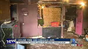 3 hospitalized in Cedonia Avenue house fire [Video]