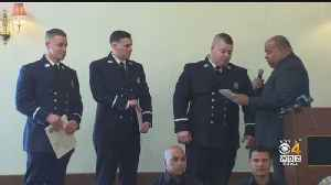 Lawrence Fire Department Celebrates Promotions, New Hires Months After Columbia Gas Explosions [Video]