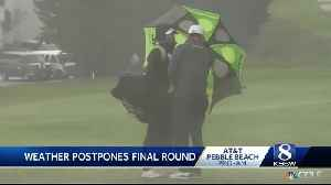 The AT and T Pebble Beach Pro-Am postponed due to weather [Video]