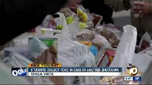 Students collect food in case of another government shutdown [Video]