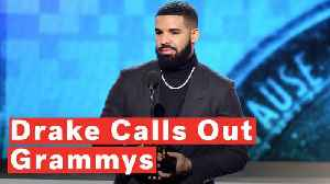 Drake Cut Off Mid-Acceptance Speech During 2019 Grammys [Video]