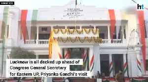 Lucknow decked up with posters ahead of Priyanka Gandhi [Video]