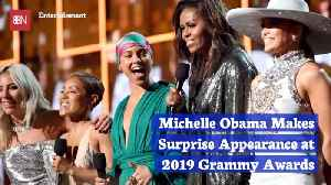 News video: Michelle Obama Stuns And Gets Wild Applause At The Grammys