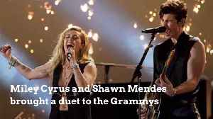 Miley Cyrus And Shawn Mendes Grammy Duet Is Sensational [Video]
