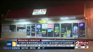 Two Tulsa armed robberies overnight; suspects on the run [Video]