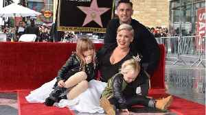News video: Pink's Gets Homemade Grammy From Kids