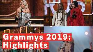 Highlights Of The 2019 Grammys: From Michelle Obama's Surprise Cameo To JLo's Motown Tribute [Video]