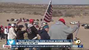 Trump supporters form human wall [Video]